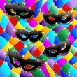 Arlecchino Maschera Sfondo-Harlequin Mask Background-Vector