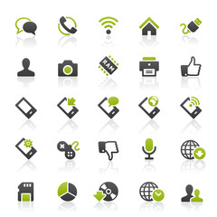 Green Black Web Icons
