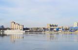Embankment of the Neva river, St.Petersburg poster