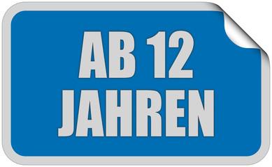 Sticker balu eckig curl oben AB 12 JAHREN