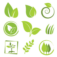 set of eco icons