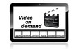 Tablet mit Video on Demand