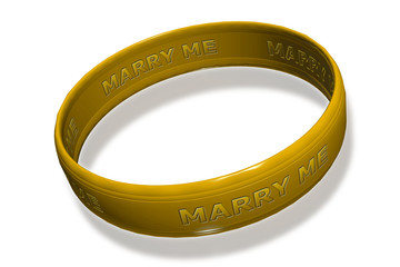 marry me golden ring
