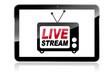 Tablet mit Livestream