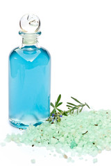 Lavendel, Badelotion and Salz, isoliert