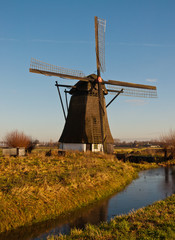 Windmill De Oude Doorn in the Dutch village of Almkerk