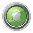 "Green 3D Style Button ""Ship / Water Transportation"""