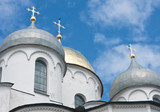 Saint Sophia cathedral in Kremlin of Great Novgorod Russia