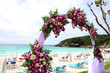 wedding venue set-up at the beach.