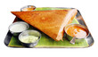 Masala dosa with variety of chutney and sambar