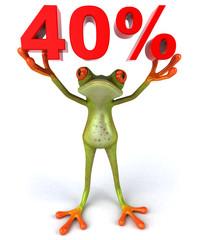 Grenouille et 40%