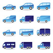 Road transport icon set - vector illustration