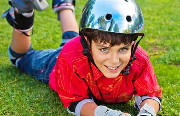 boy roller scater