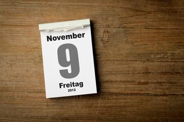 9 November 2012