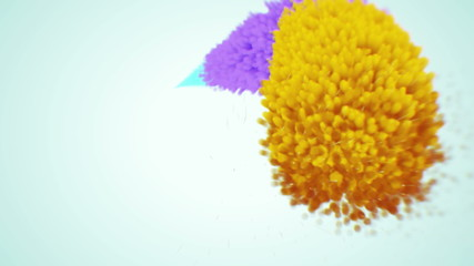 Looping motion of abstract color particle