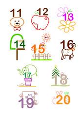 number 11 - 20
