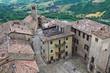 Panoramic view of Vigoleno. Emilia-Romagna. Italy.