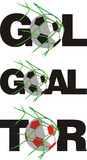 ball in goal - in different languages poster