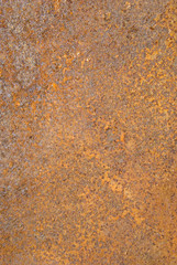 Closeup of rusty metal tin surface background.