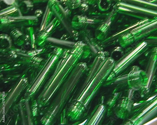 Plastic form for pet bottle production.