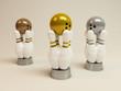 Bowlingpreis gold, silber, bronze