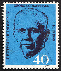 Postage stamp Germany 1960 George C. Marshall