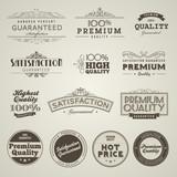 Fototapety Vintage Styled Premium Quality labels