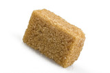 brown lump cane sugar cubes close up