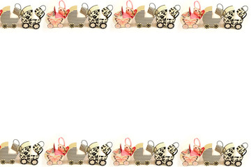 baby buggy border