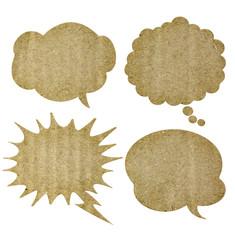 recycle paper in bubble speech shape