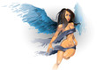 sexual angel vector illustration