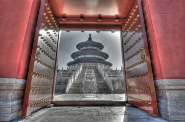 Gate to the past: Chinese landmark Temple of Heaven, hdr image