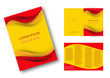 Editable brochure, Spain flag background # Vector