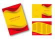 Editable brochure, Spain flag background # Vector