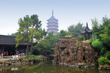 Chinese garden in Suzhou, China
