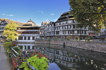 Half timbered houses in La Petite France district, Strasbourg