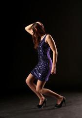 Mädchen tanzt