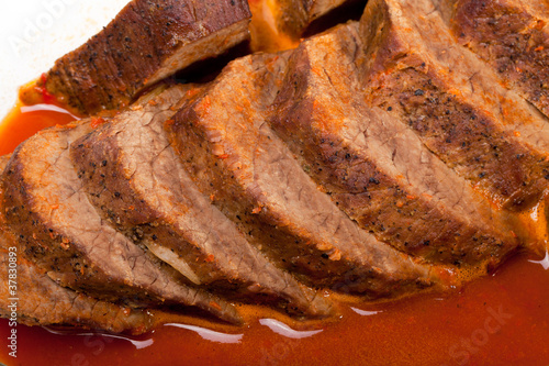 Deer roast with sauce