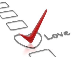 Love checklist