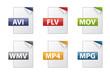 Dateiendungen Dokumentenymbole - Sammlung 02