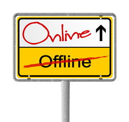 Ortsschild Online