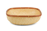 Wickerwork empty yellow breadbasket