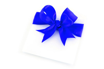 Sheet with blue holiday bow