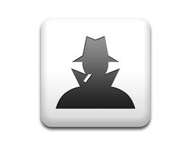 Boton cuadrado blanco simbolo espia