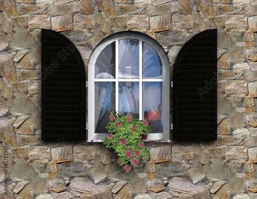 fenster mit fensterl den von magda fischer lizenzfreies foto 37833686 auf. Black Bedroom Furniture Sets. Home Design Ideas