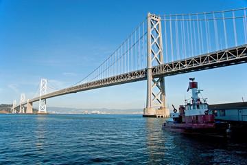 Suspension Oakland Bay Bridge in San Francisco to Yerba Buena Is