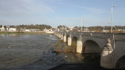 Pont Wilson over River Loire Tours France