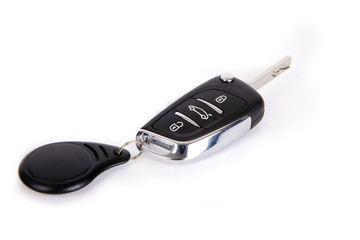 Car key and remote control.