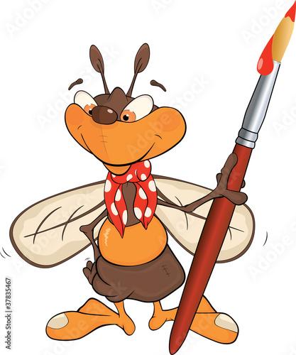 Bee the artist. Cartoon
