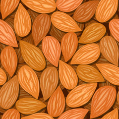 almonds seamless background